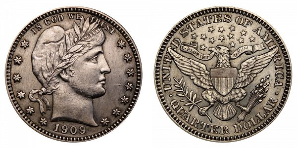 1909 Barber Quarter