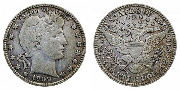 1909 S Barber Quarter