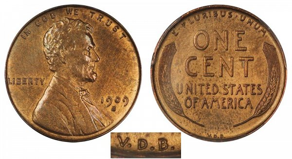 1909 S VDB Lincoln Wheat Cent Penny