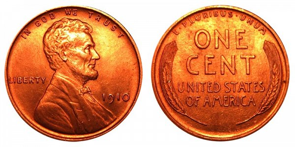 1910 Lincoln Wheat Cent Penny