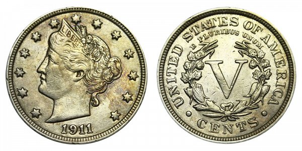 1911 Liberty Head V Nickel