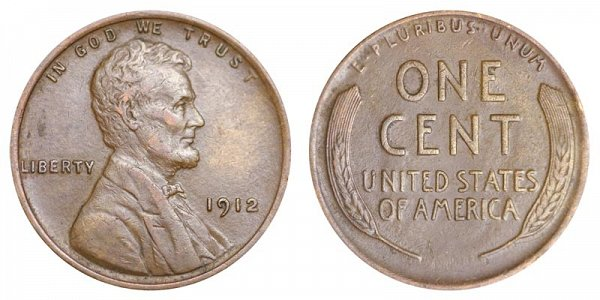 1912 Lincoln Wheat Cent Penny
