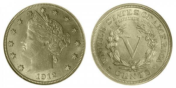 1912 S Liberty Head V Nickel
