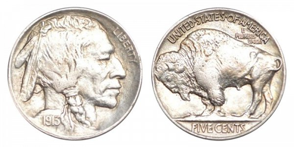 1913 Line Type 2 Indian Head Buffalo Nickel