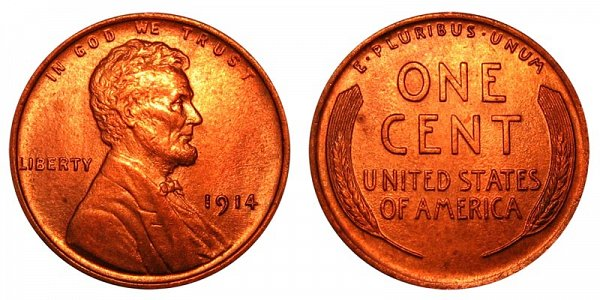 1914 Lincoln Wheat Cent Penny