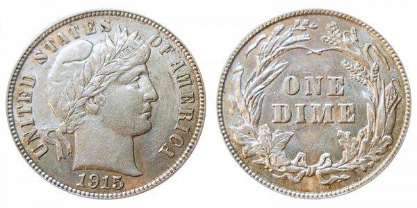 1915 Silver Barber Dime