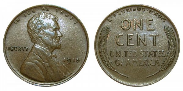 1915 Lincoln Wheat Cent Penny