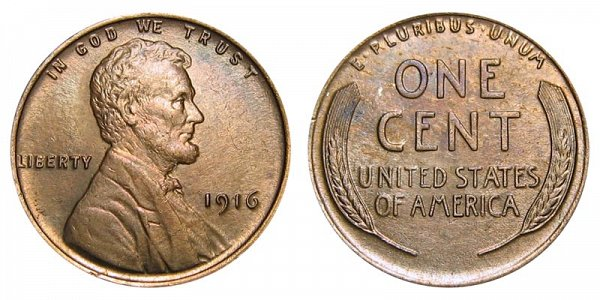 1916 Lincoln Wheat Cent Penny