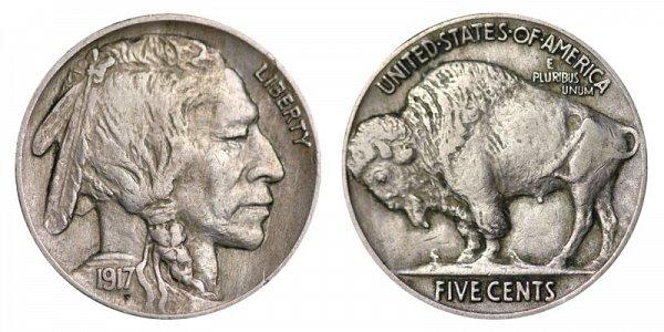 1917 Indian Head Buffalo Nickel