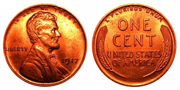1917 D Lincoln Wheat Cent Penny