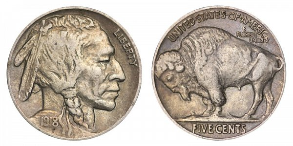 1918 Indian Head Buffalo Nickel