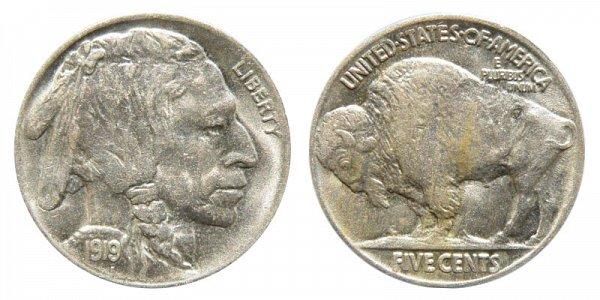 1919 Indian Head Buffalo Nickel