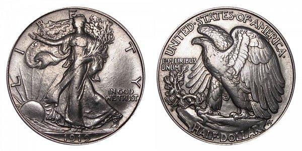 1919 D Walking Liberty Silver Half Dollar