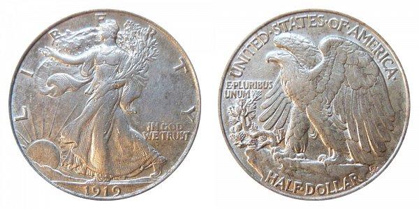 1919 Walking Liberty Silver Half Dollar