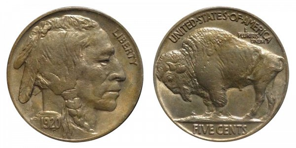 1920 Indian Head Buffalo Nickel