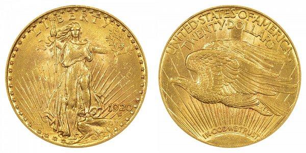 1920 Saint Gaudens $20 Gold Double Eagle - Twenty Dollars