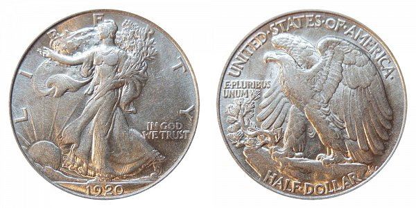 1920 Walking Liberty Silver Half Dollar