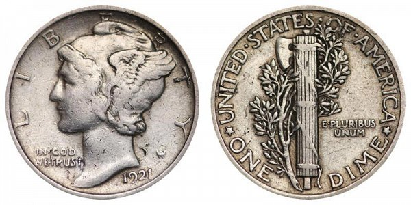 1921 Silver Mercury Dime