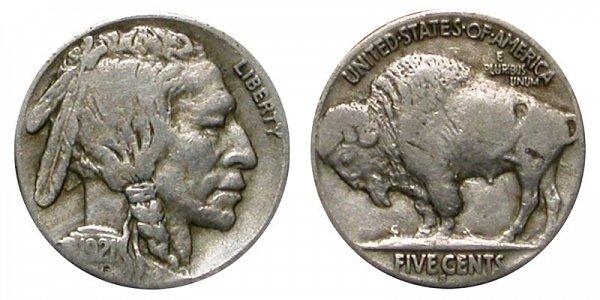 1921 S Indian Head Buffalo Nickel