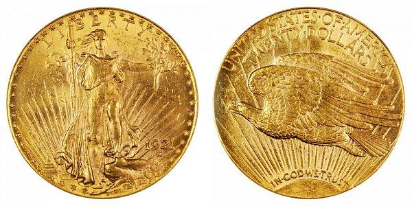 1921 Saint Gaudens $20 Gold Double Eagle - Twenty Dollars