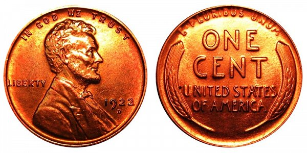 1922 D Lincoln Wheat Cent Penny