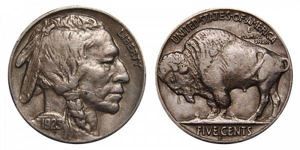 1923 S Indian Head Buffalo Nickel