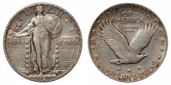 1923 S Standing Liberty Quarter