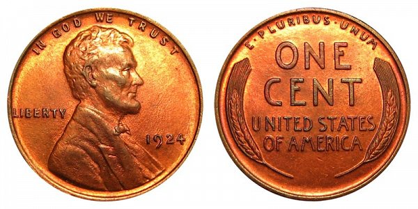 1924 Lincoln Wheat Cent Penny