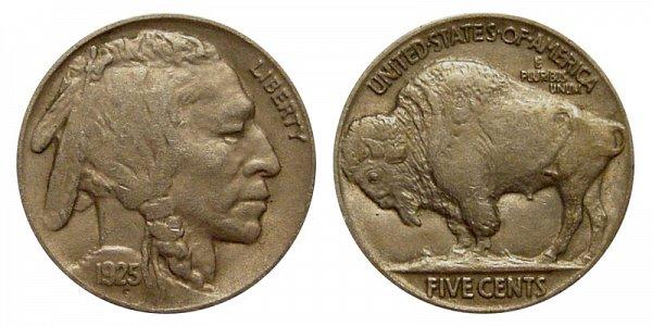 1925 Indian Head Buffalo Nickel
