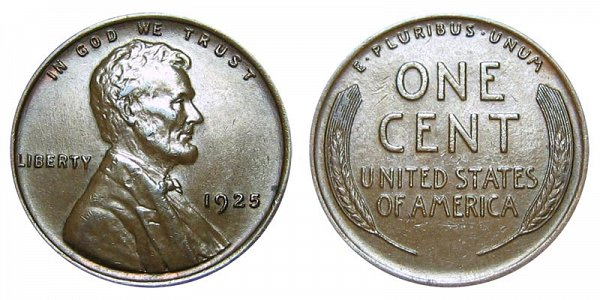 1925 Lincoln Wheat Cent Penny