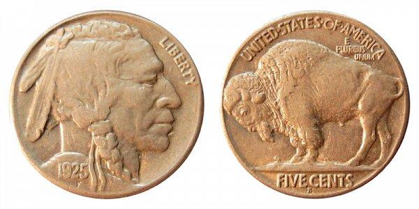 1925 S Indian Head Buffalo Nickel