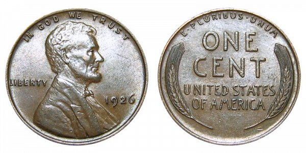 1926 Lincoln Wheat Cent Penny