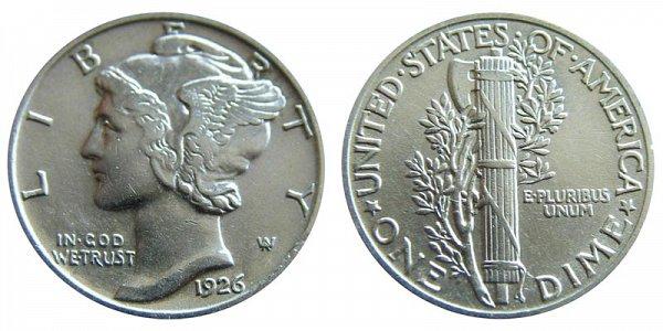 1926 Silver Mercury Dime