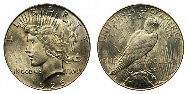 1926 Peace Silver Dollar