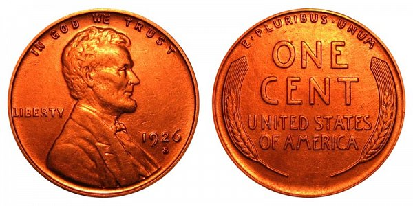 1926 S Lincoln Wheat Cent Penny
