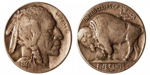 1927 D Indian Head Buffalo Nickel