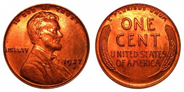 1927 D Lincoln Wheat Cent Penny