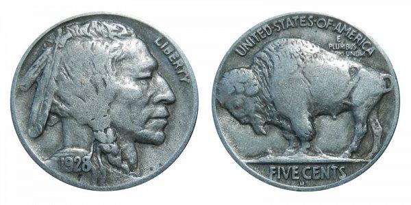 1928 D Indian Head Buffalo Nickel