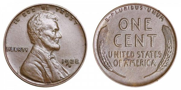 1928 D Lincoln Wheat Cent Penny