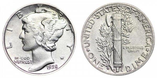 1928 D Silver Mercury Dime