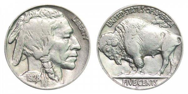 1928 S Indian Head Buffalo Nickel