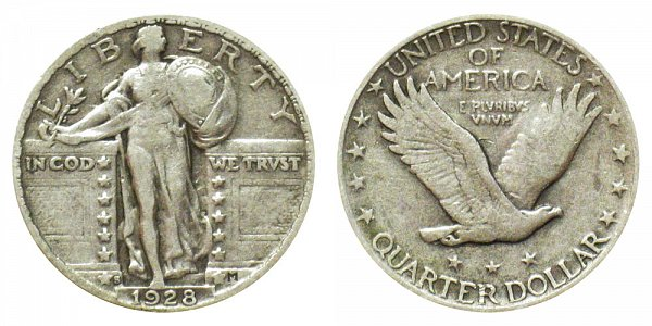 1928 S Standing Liberty Quarter