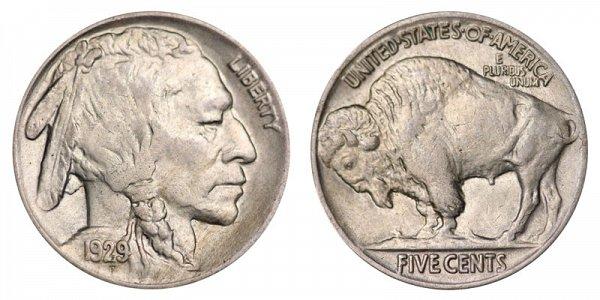 1929 Indian Head Buffalo Nickel
