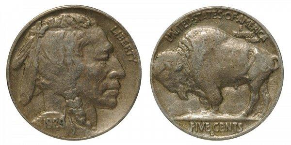 1929 D Indian Head Buffalo Nickel