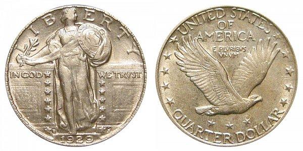 1929 D Standing Liberty Quarter