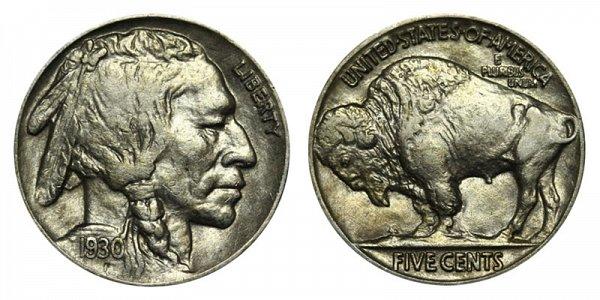 1930 Indian Head Buffalo Nickel