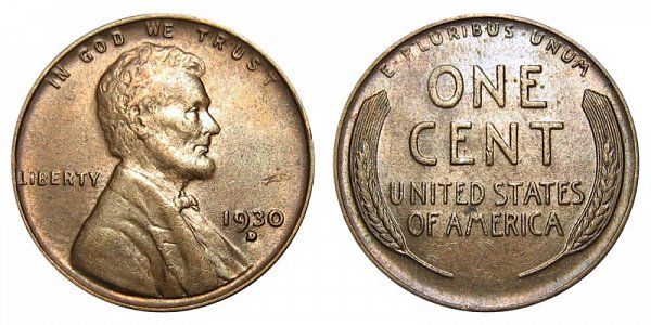 1930 D Lincoln Wheat Cent Penny