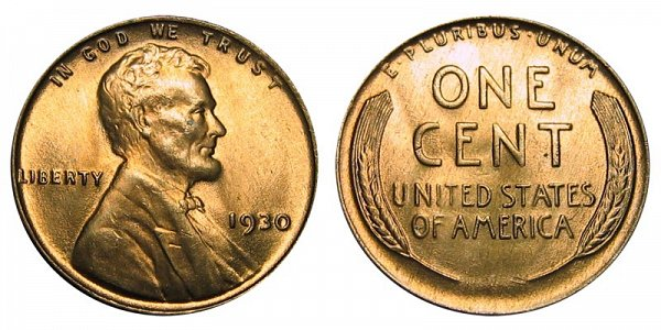 1930 Lincoln Wheat Cent Penny