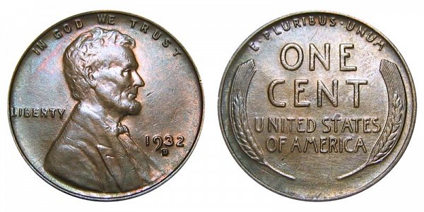 1932 D Lincoln Wheat Cent Penny