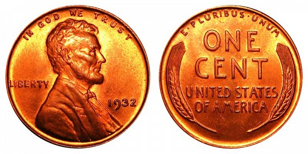 1932 Lincoln Wheat Cent Penny